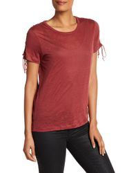 Acrobat - Lace Shoulder Tee - Lyst