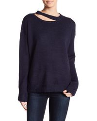 Oober Swank - Crew Neck Slit Long Sleeve Sweater - Lyst