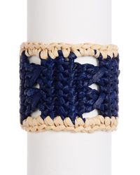 Hat Attack - Straw Crochet Cuff Bracelet - Lyst