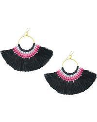 Moon & Lola - Bangkok Silk Tassel Fan Drop Earrings - Lyst