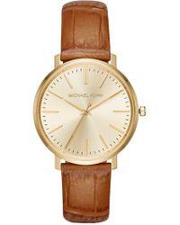 MICHAEL Michael Kors - Women's Jaryn Croc Embossed Leather Watch - Lyst