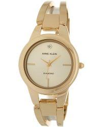 Anne Klein - Women's Polished Gold Bangle Watch - Lyst