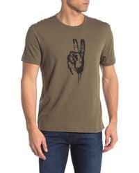 John Varvatos - Peace Hand Short Sleeve Shirt - Lyst