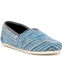TOMS - Classic Sequin Boucle Slip-on Sneaker - Lyst