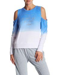 Peace Love World - Cold Shoulder Comfy Fleece Sweater - Lyst