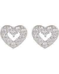 Nadri - Cz Accent Reminisce Open Heart Stud Earrings - Lyst