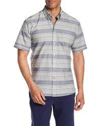 Thomas Dean - Striped Chest Pocket Slim Fit Shirt - Lyst