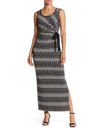Maggy London - Lace Stripe Maxi Dress - Lyst