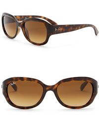 Ray-Ban - Highsteet 54mm Oval Sunglasses - Lyst