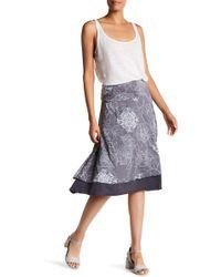 Allen Allen - Foldover Floral Midi Skirt - Lyst