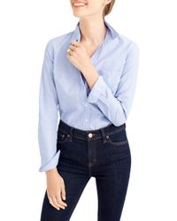 J.Crew | End On End Boy Shirt (regular & Petite) | Lyst