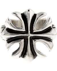 King Baby Studio - Sterling Silver Large Gothic Cross Ring - Lyst