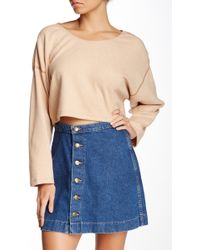 American Apparel - Herringbone Reversible Easy Cropped Sweater - Lyst
