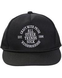 2a11eeb9e Neighborhood Wool-Twill Baseball Cap in Black for Men - Lyst