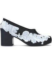 Comme des Garçons - Painted Logo Court Shoes - Lyst
