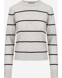 Vince - Striped Overlay Crew - Lyst