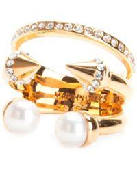 Vita Fede - Ultra Mini Pearl Titan With Crystal Band Ring - Lyst