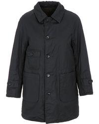 Engineered Garments - Fwk Reversible Coat / Herringbone Dk Navy Ctn/linen Co - Lyst
