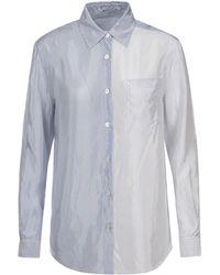 T By Alexander Wang - Stripe Button Down Shirt - Lyst