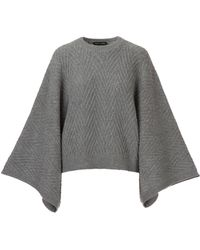 Each x Other - Poncho Allover Herringbone Texture - Lyst