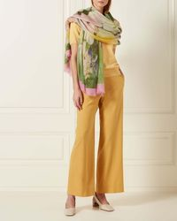 N.Peal Cashmere - Floral Printed Pashmina Cashmere Shawl - Lyst