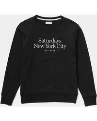 Saturdays NYC - Bowery Miller Standard Embroidered Sweatshirt - Lyst
