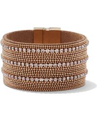 New York & Company - Sparkling Goldtone Wrap Bracelet - Lyst
