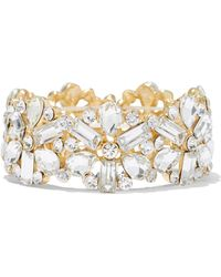 New York & Company - Sparkling Goldtone Stretch Bracelet - Lyst