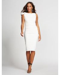 16d237f825 New York   Company - Shirred Sheath Dress - Gabrielle Union Collection -  Lyst