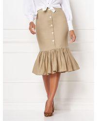 New York & Company - Shay Khaki Flounced Skirt - Eva Mendes Collection - Lyst