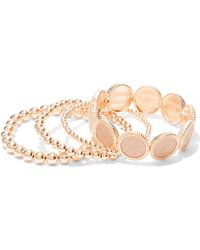New York & Company - 4-row Goldtone Stretch Bracelet - Lyst