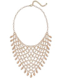 New York & Company - Goldtone Bib Statement Necklace - Lyst