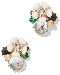 New York & Company - Floral Beaded Cluster Earring - Lyst
