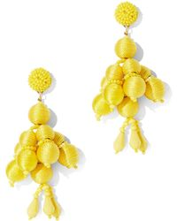 New York & Company - Yellow Beaded Drop Earring - Lyst