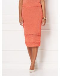 25a3110d7a New York & Company - Jessie Crochet Sweater Skirt - Eva Mendes Collection -  Lyst