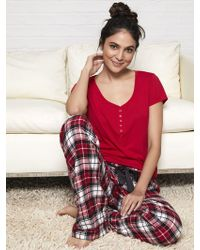 New York & Company - 2-piece Plaid Pajama Set - Lyst