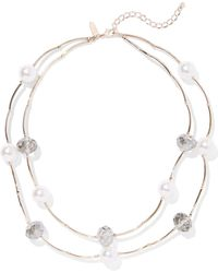 New York & Company - 2-row Goldtone Faux-pearl Necklace - Lyst