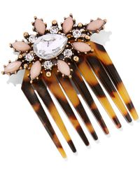 New York & Company - Jeweled Faux-tortoise Hair Comb - Lyst