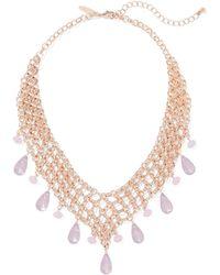New York & Company - Goldtone Chain-link Bib Necklace - Lyst