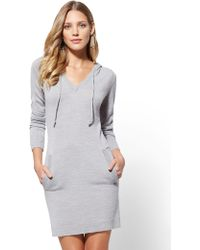 New York & Company - Soho Street - Hooded Sweater Dress - Lyst