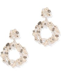 New York & Company - Sparkling Circular Drop Earring - Lyst