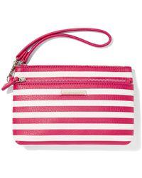 New York & Company - Striped Double-zip Wristlet - Lyst