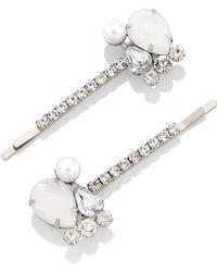 New York & Company - 2-piece Silvertone Bobby Pin Set / 3-piece Hair Clip Set - Lyst