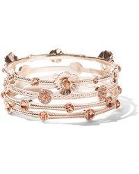 New York & Company - Floral Cuff Bangle Bracelet - Lyst