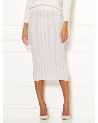 6baca33cbd New York & Company - Shania Sweater Skirt - Eva Mendes Collection - Lyst