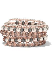 New York & Company - Multi-row Beaded Stretch Bracelet - Lyst