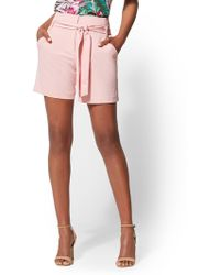 New York & Company - 7th Avenue - Belted 6-inch Short - Lyst