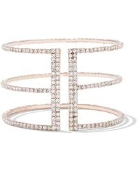 New York & Company - Pave Goldtone Bar Bracelet - Lyst