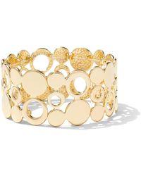 New York & Company - Goldtone Stretch Cuff Bracelet - Lyst