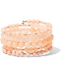 New York & Company - Beaded Coil Bracelet - Lyst